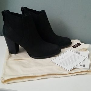 UGG ankle bootie with stack heel